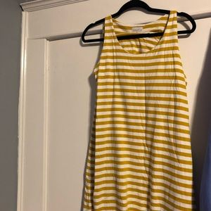 Compania fantastica yellow/white maxi dress